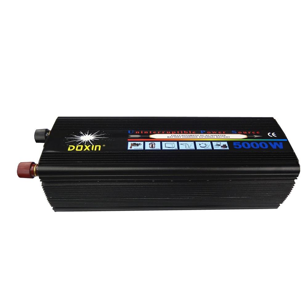 high capacity 10000w Peak Power 5000W rated power 40A dc12V/24V to ac220V Modified Sine Wave UPS Power Inverter plastic car dc12v 24v to ac220v power inverter with usb port black