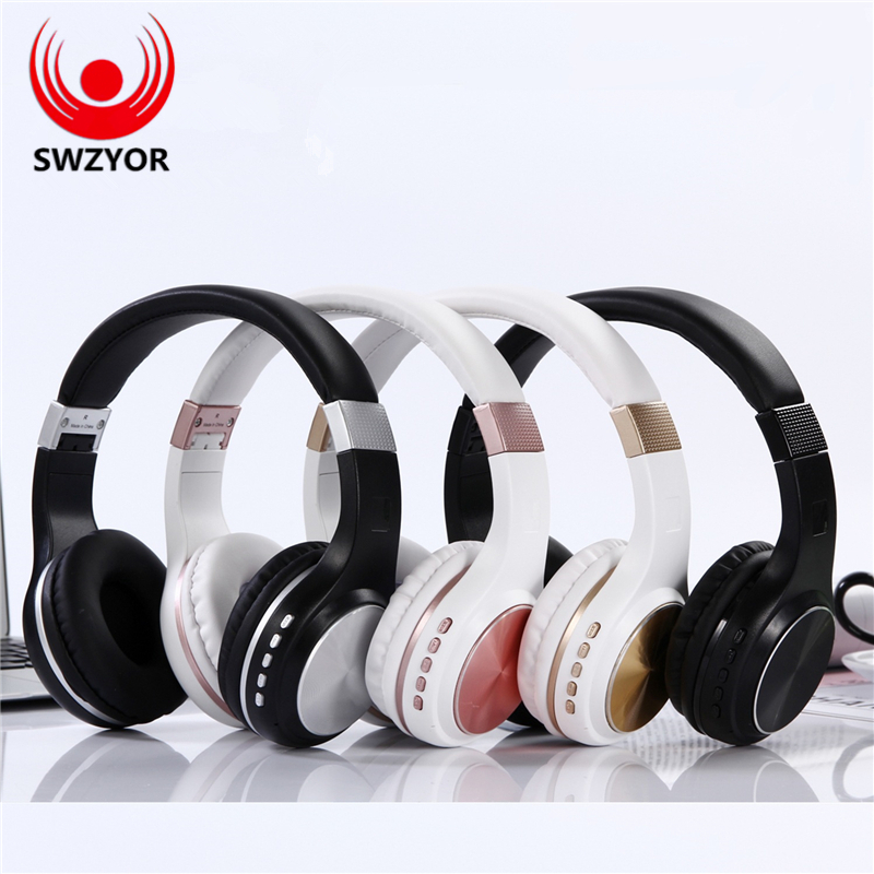 SWZYOR S1601 bluetooth headphones with microphone Stereo wireless headset bluetooth TF card for Iphone Samsung Xiaomi headphone