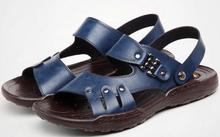 Новинка 2017 летние мужские модные сандалии мужские кожаные шлепанцы для отдыха пляжная обувь мужские сандалии для прогулок