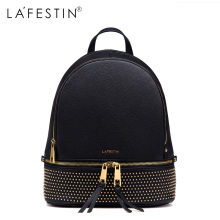 LAFESTIN Fashion Rivet Backpack Women Casual Versatile Solid Backpack Girls School Bags Backpack Mochilas