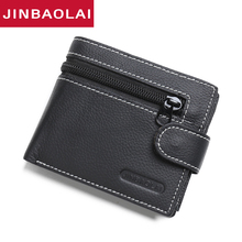 цена на New Wallet Brand Short Men Wallets Genuine Leather Male Purse Card Holder Wallet Fashion Man Zipper Wallet Men Coin Bag Carteira