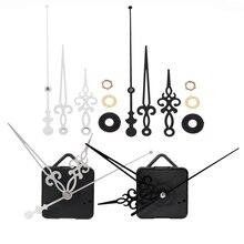 Бесшумные настенные часы, кварцевый механизм, настенные часы, кварцевые часы, часы для часов/минут, часы для рук, механизм, черный, серебристый