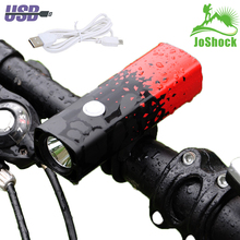 JoShock 15000LM T6 LED Waterproof Bicycle Light Bike Front Lamp Outdoor 5 modes Headlight USB Rechargeable with Taillight