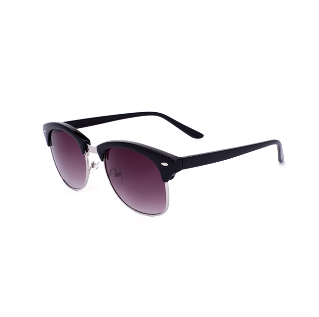 Laura Fairy Fashion Semi Gradient Sunglasses Vintage UV400 Remix Sun Glasses Metal Decoration Oculos de Sol Masculino