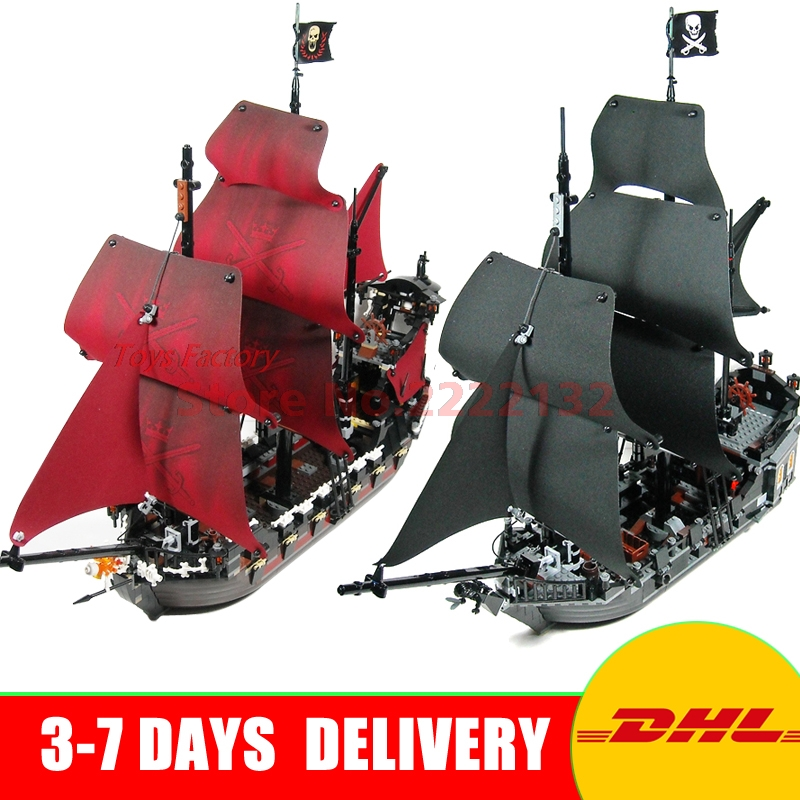 LEPIN 16009+16006 Pirates Of The Caribbean Queen Anne's Reveage Model Building Kits Blocks Bricks Toys For Children Gift 4195 lepin 22001 imperial warships 16009 queen anne s revenge model building blocks for children pirates toys clone 10210 4195