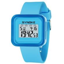 Многофункциональный Дети светодиодный цифровые часы Водонепроницаемый Световой будильник наручные часы для детей Открытый спортивные часы @ 17 TT @