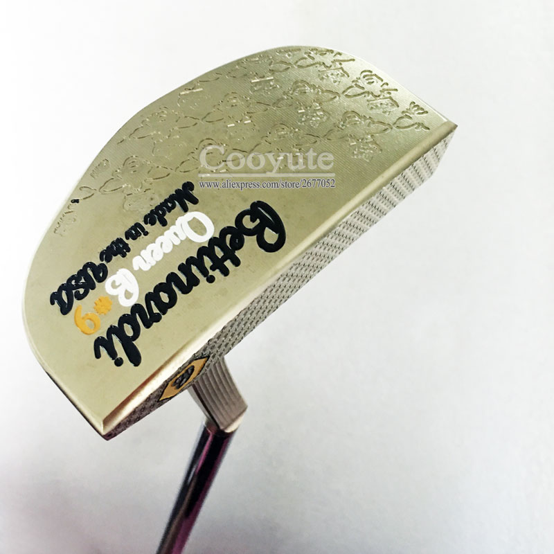 Cooyut New Golf Clubs BETTINAID Queen B9 Golf Putter Gold Color Clubs Steel Golf Shaft Clubs And Head Cover Free Shipping