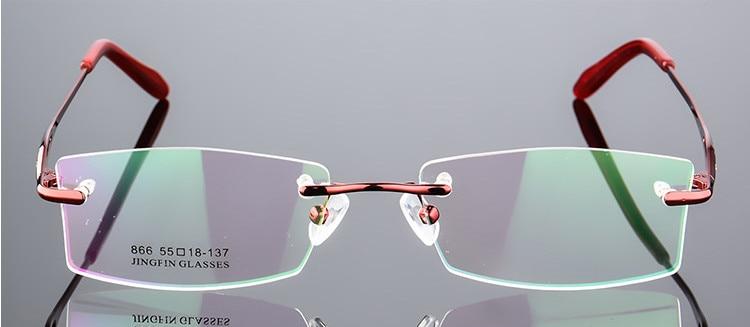 52d66a10e69 New arrival ultra-light rimless Optical frame women Titanium Alloy eyeglasses  frame Myopia Prescription glasses