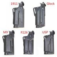 Tactical Glock 17 19 M9 USP 1911 P226 Pistol Holster Gun Accessories Hunting Right Hand Waist Belt Airsoft Holster Gun Case