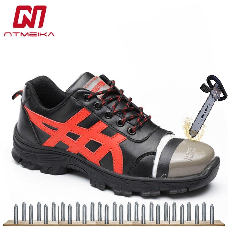 Aktiv Kuh Leder Männer Arbeit Sicherheits Schuhe Stahl Kappe Atmungsaktiv Arbeit Sicherheit Stiefel Schuhe Für Männer Casual Safetoe Arbeit Schuhe Größe 35-46