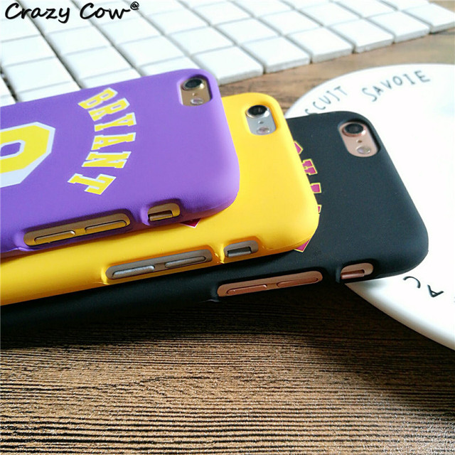 NBA L.A Lakers NO.24 8 Kobe Bryant Basketball PC Case For iPhone 5 5s Se 6 6s Plus Cover Jumpman Sports Phone Cases Funda Coque