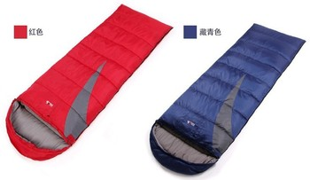 Cotton 3 Season Sleeping Bag 210*75CM Camping Sleeping Bag Camping supplies Color Can Choose Free shipping