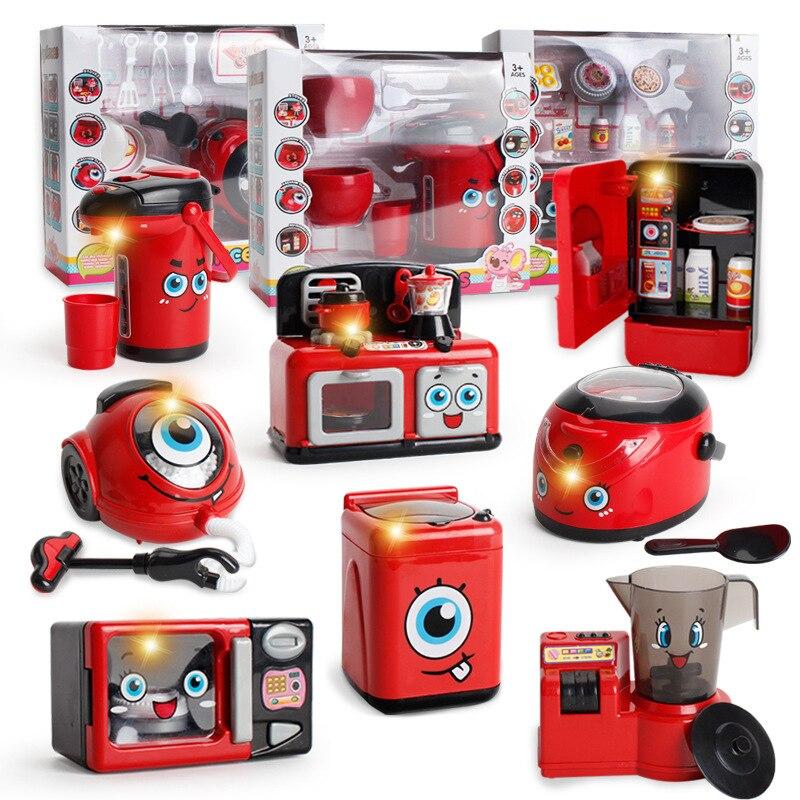 Inteligente Juego De Simulación Electrodomésticos Juguete Para Niños Combinación Exprimidor Lavado Refrigerador Microondas Horno Aspiradora Cocina De Arroz Descuentos Precio