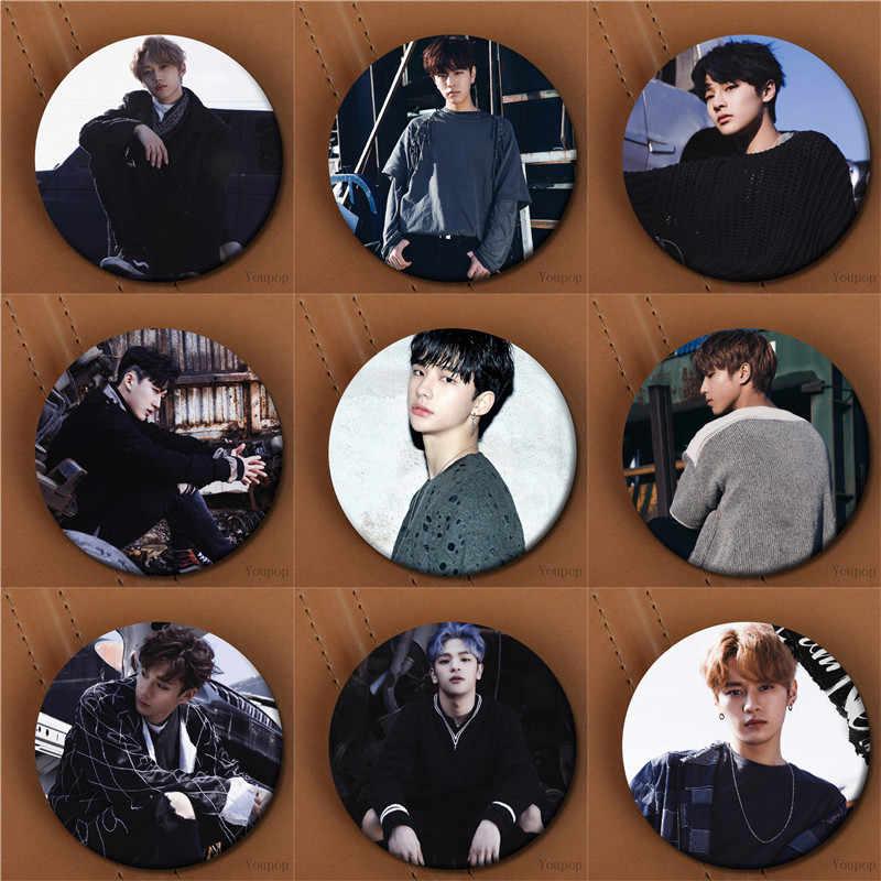 Youpop KPOP niños perdidos álbum No StrayKids FELIX BangChan HAN I.N WOOJIN foto placa pasadores broches para la ropa sombrero mochila