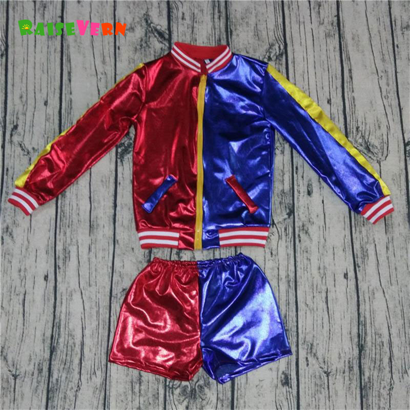 2017 3PCS Halloween Baby Boys Girls Costume Kids Jacket Short Pant T-shirt Sets Patchwork Outwear Fashion Cosplay Clothes Sets the flash martin star laboratories cartoon shirt cute sheldon cooper flash t shirt t shirt kids anime cosplay costume kids dc674