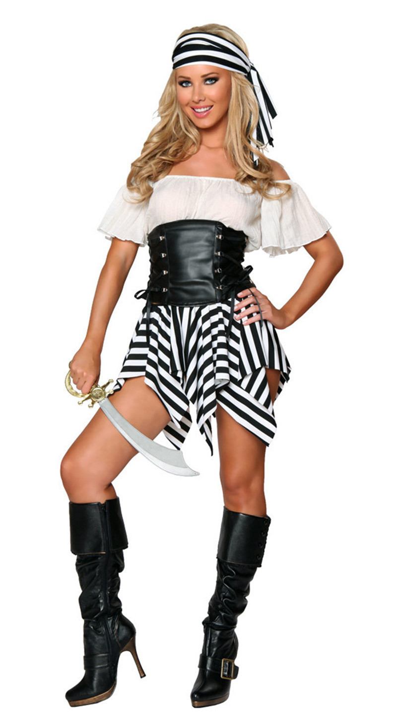 Pirate Costume Women Adult Halloween Carnival Costumes Fantasia Fancy Dress Caribbean Pirates Costume