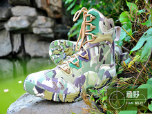 Military Camouflage Combat Boots Ankle Protection Breathable Men Outdoor Hunting Fishing High Top Sneakers Hiking Camping Shoes