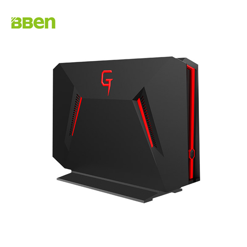 BBEN GB01 Mini PC Intel i7 7700HQ NVIDIA GTX1060 GDDR5 6G Video Card 16G RAM 256G M.2 SSD Powerful Gaming Computer Box Win10 getworth r31 liquid cooling computer intel i7 desktop i7 8700k 8g ram gtx1060 wd 240g ssd win10 home 6 led fans water cooling pc