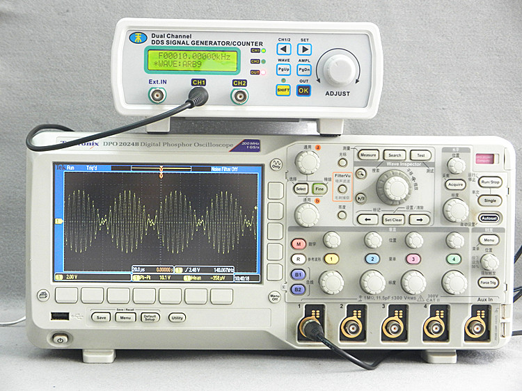 Digital Dual-channel MHS-5200P+ DDS Arbitrary waveform generator Function signal Signal 6MHz Amplifier hantek dso4202c digital storage oscilloscope 2ch 200mhz 1 channel arbitrary function waveform generator factorydirectsales