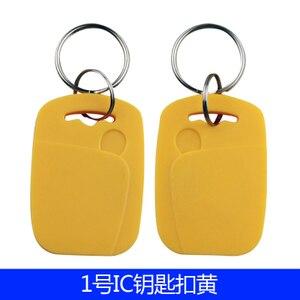 Image 2 - 100 Pz/lotto 13.56 MHZ RFID IC Scheda Token Tag Keyfobs Chiave per il Controllo di Accesso Ingresso Mechine