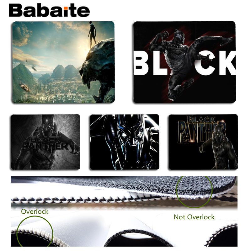 Babaite New Design Black Panther Customized laptop Gaming mouse pad Size for 18x22cm 25x29cm Rubber Mousemats