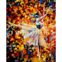 Hand Painted Oil Painting On Canvas For Abstract Ballet Decor Art Thick Palette Knife Painting Living Room Artwork Fine Art