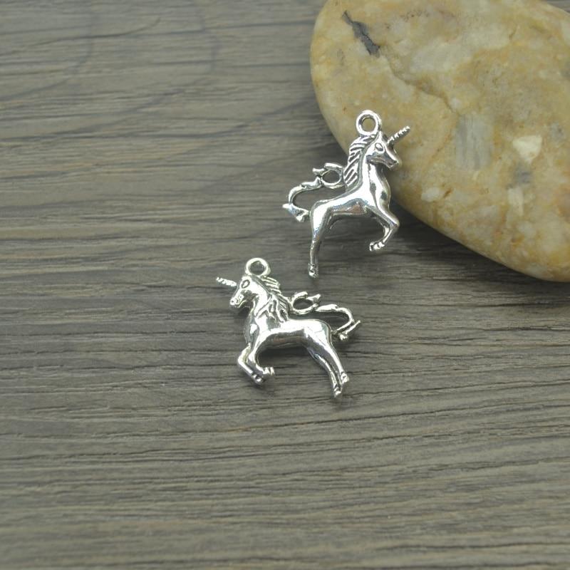 10pcs Tibetan Silver Animals Horse Charms Pendants Jewelry Making DIY Handmade Crafts