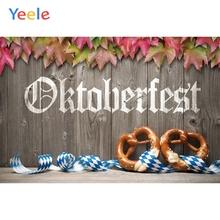 Yeele Oktoberfest Festivals Carnival Party Photo Backgrounds Leaves Beer Toast Custom Photography Backdrops For Studio