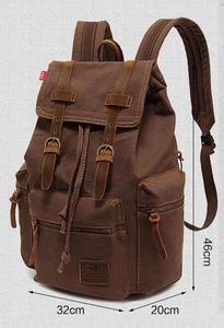 Image 5 - AUGUR nowa męska 17 cal laptopa komputerowy plecak plecaki szkolne mężczyźni w stylu vintage płótno duża pojemność podróży plecak tornister torba