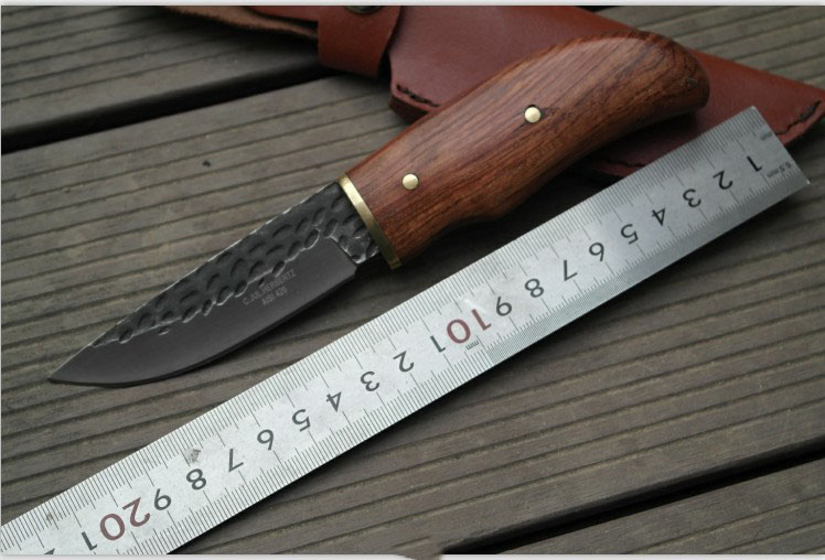sharpen carbon steel Fixed blade handmade forged font b Hunting b font Camping knifes Survival font