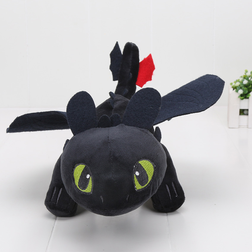 23-55cm-Anime-How-to-Train-Your-Dragon-plush-toys-Toothless-plush-Night-Fury-Plush-stuffed-animal-doll-toy-Christmas-kids-gift-2
