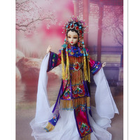 12 Inch Ancient Chinese Dolls BJD Doll With Beautiful Clothes Traditional Chinese Doll Toys For Collection