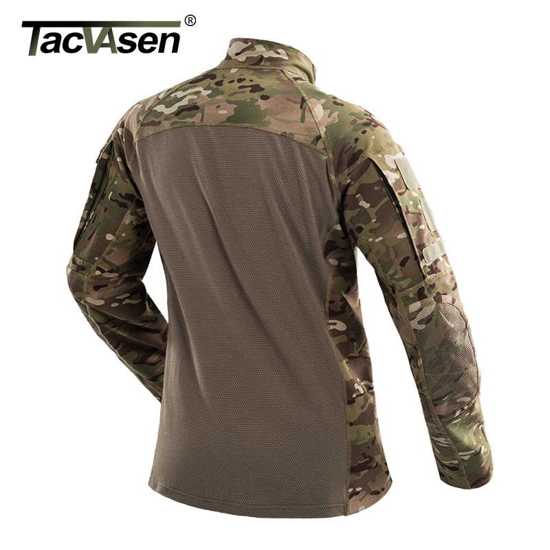 5758ba2af ... TACVASEN Men Tactical T-shirt Summer Army Camouflage Combat T Shirt  Long Sleeve Military Airsoft ...