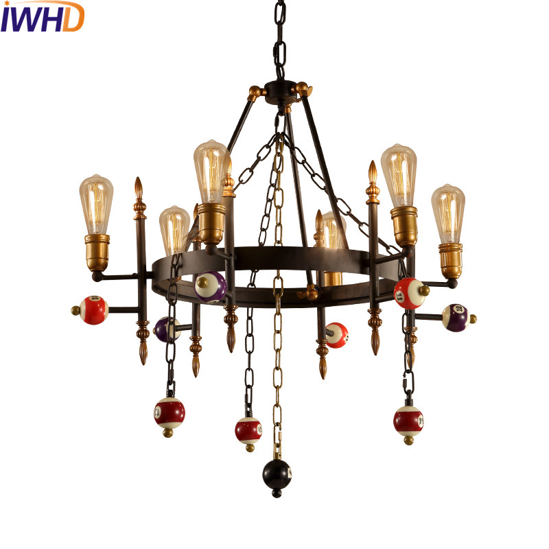 Iwhd loft stijl industriële lamp vintage hanger verlichting ...