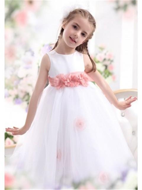 1300f56c4d2 2017 Top Quallity First Communion Dresses Halter Floor-Length Sleeveless  Gorgeous White Blush Flower Girl Dress Hand Made WH