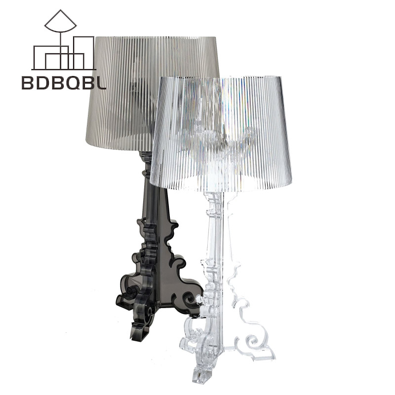 BDBQBL Modern Art Led Table lamp Lustre For Living Room Bedroom Light Ghost Desk Lamp Acrylic Lampshade Home Lighting abajour