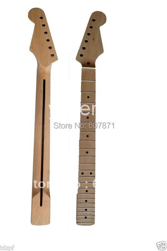 ФОТО New Unfinished electric guitar neck Maple Wood Neck