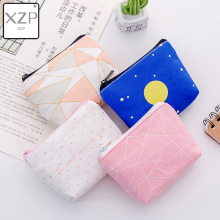 XZP Fashion Mini Canvas Coin Purse Small Women Wallet Female Korean Cartoon Lovely Pink Money Bag