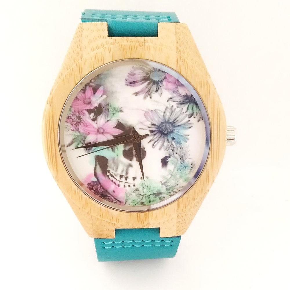 Zegarki z drewna bambusowego dla kobiet mężczyzn Zegarki z drewna - Zegarki damskie - Zdjęcie 1