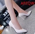 Women Pumps Snakeskin pattern Mid High Heel Shoes Poimted Toe Dress Shoes For Woman Black White Color B1