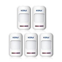 KERUI 5 шт./лот Беспроводной PIR motion sensor детектор f сенсорной клавиатурой панели GSM PSTN главная дом охранной Охранной voice alarm система
