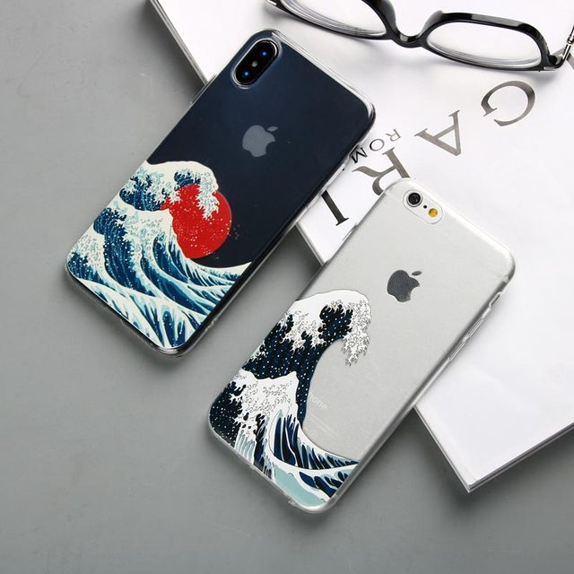 Silicone Ocean Waves Printed iPhone Case 3