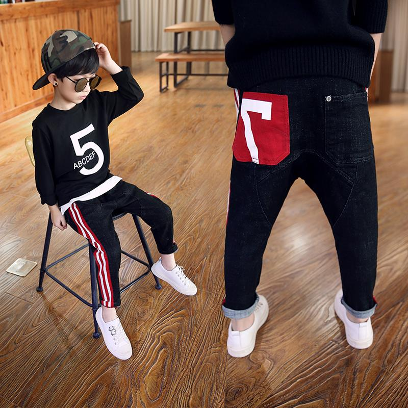 Boys pants 2018 new autumn kids clothing big boys jeans doll cotton trousers baby children harem roupas infantis menina leggings