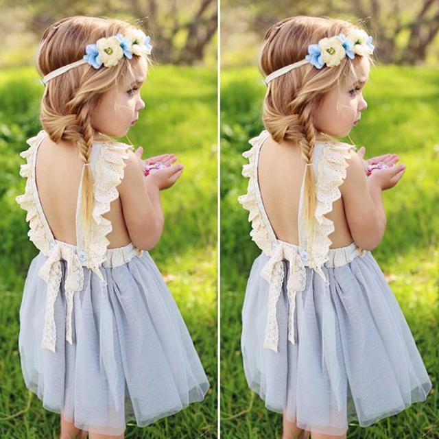 Girls' Plain Cotton Dress