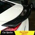 Высококачественный спойлер из углеродного волокна для Honda CIVIC  черный Задний спойлер заднего багажника для автомобиля CIVIC 2015 +
