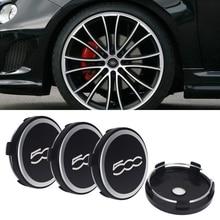 цена на 4pcs 60mm For FIAT 500 500C Car Tuning Universal Sticker Emblem Car Wheel Center Caps Badge Car Hub Cap Rims Cover Accessories