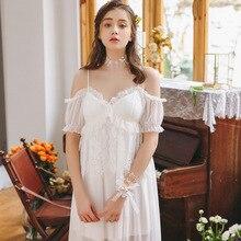 Летняя кружевная белая Пижама с короткими рукавами для беременных женщин; ночная рубашка для кормящих женщин; Пижама для беременных; YFQ213