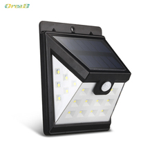 Oreab 22 Leds 3 Mode 400 Lumens Outdoor Led Solar Wall Light With Pir Motion Sensor For Walkway And Stair