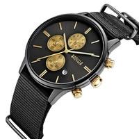 2018 BAOGELA Men's Fashion Casual Sport Military Waterproof Watches Canvas Quartz Watch Male Wristwatches Relogio Masculino