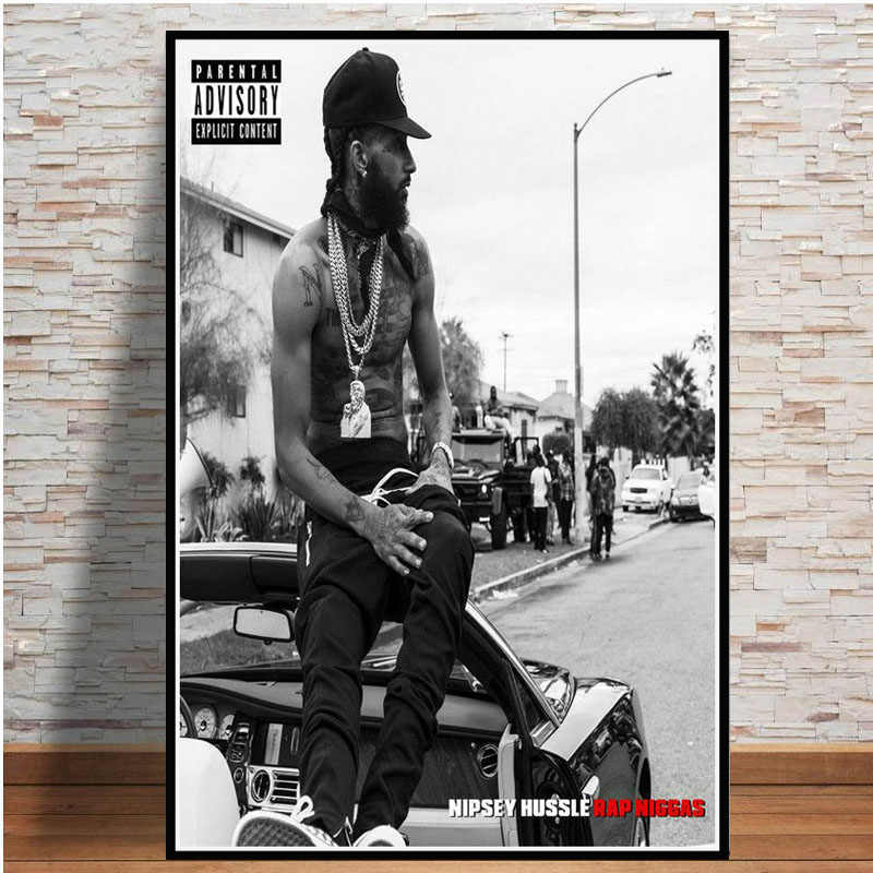 Poster And Prints Hot Nipsey Hussle Victory Lap Rapper Hip Hop Music Star  Art Painting Wall Pictures For Living Room Home Decor
